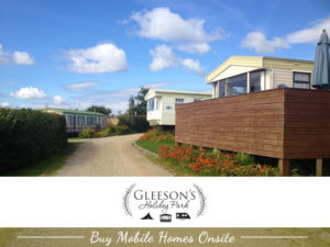 Buy Mobile Homes onsite at Gleeson's Holiday Park, Clogga, Arklow, Wexford.