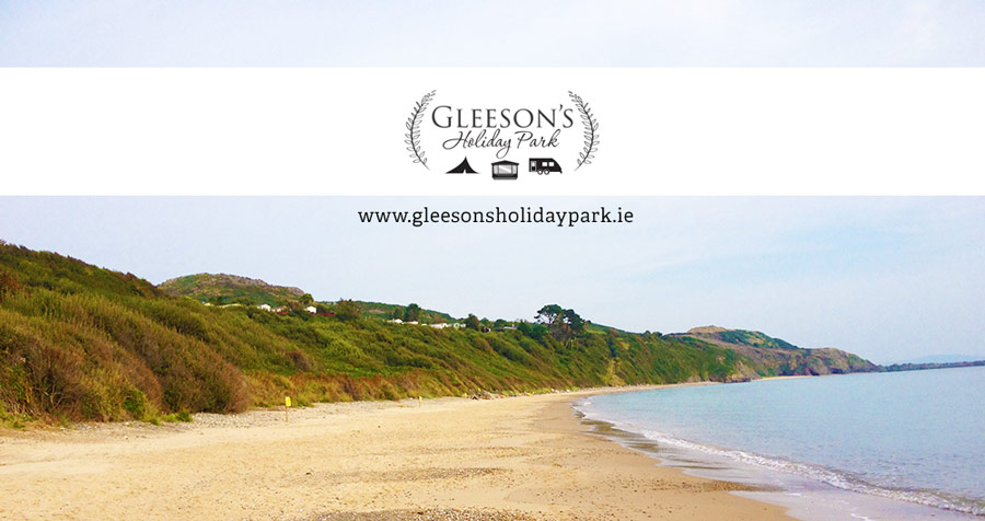 Clogga Beach beside Gleeson's Holiday Park, Co. Wicklow.